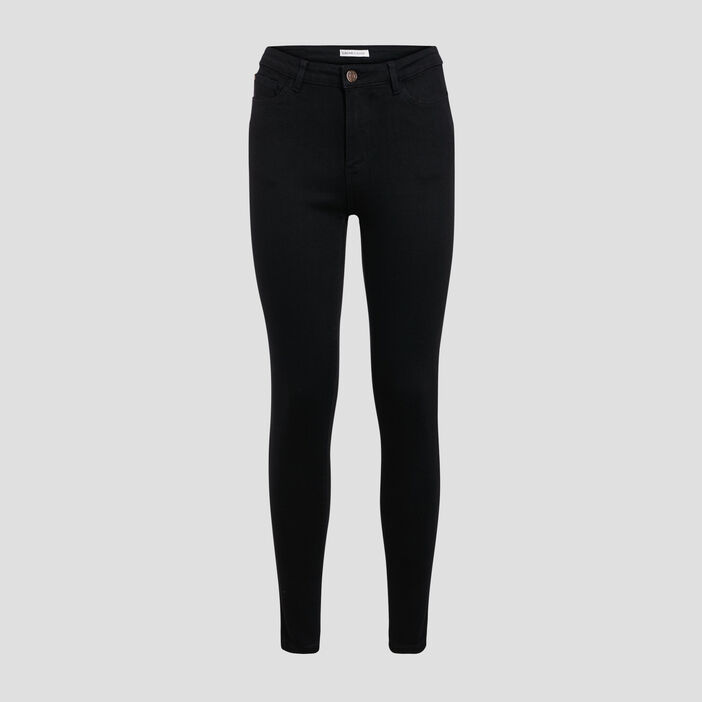 Jeans skinny push-up denim noir femme