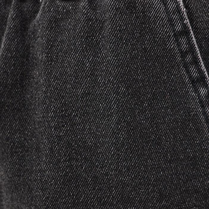 Short ample élastiqué en jean denim noir femme