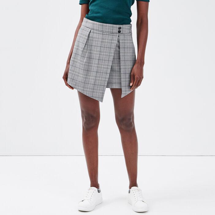 Jupe-short droite gris femme