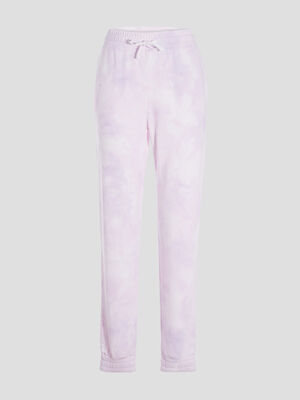 Pantalon jogging droit mauve femme
