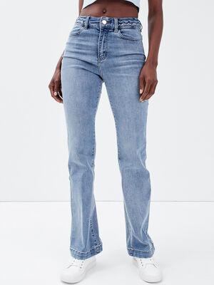 Jeans flare denim double stone femme