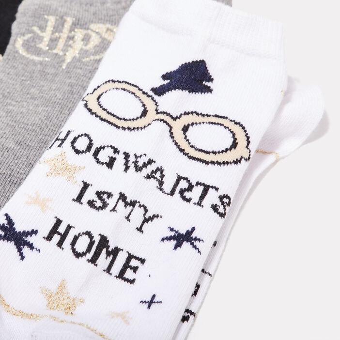 Lot 3 socquettes Harry Potter ecru femme