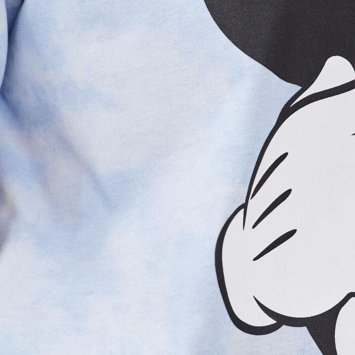 T-shirt manches courtes Mickey bleu pastel femme