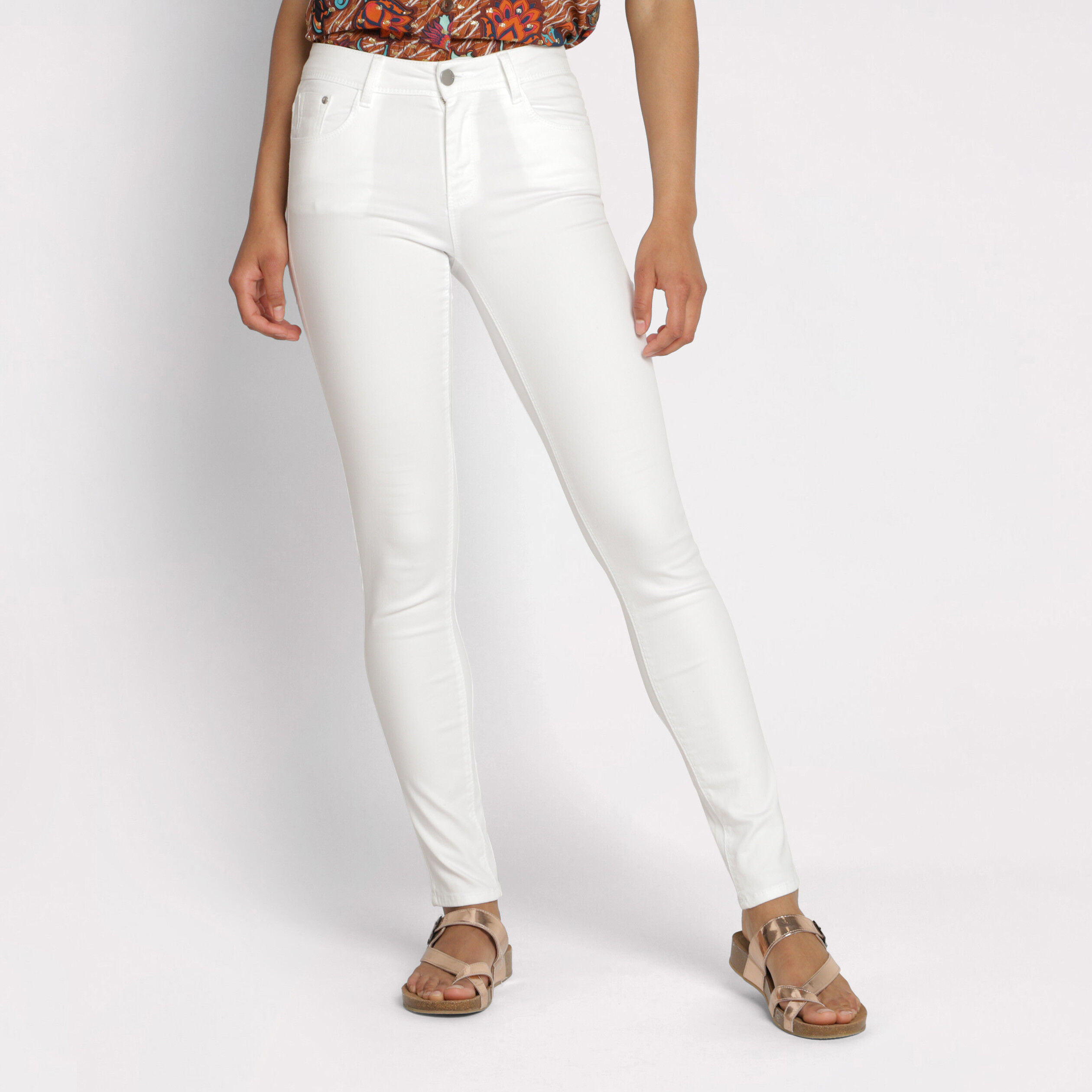 Pantalon Couleur Blanc Slim Femme Femme Slim Pantalon Slim Couleur Blanc Pantalon GUqSzVpM