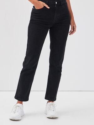 Jeans droit noir femme