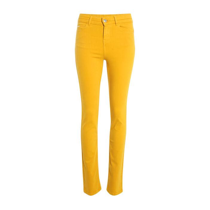d6a954610fd1d Pantalon regular basique jaune or femme | Vib's
