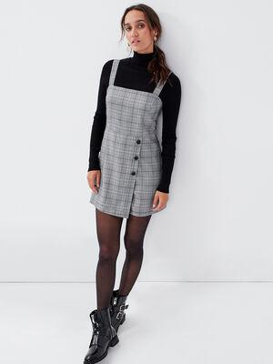 Salopette jupe short gris femme