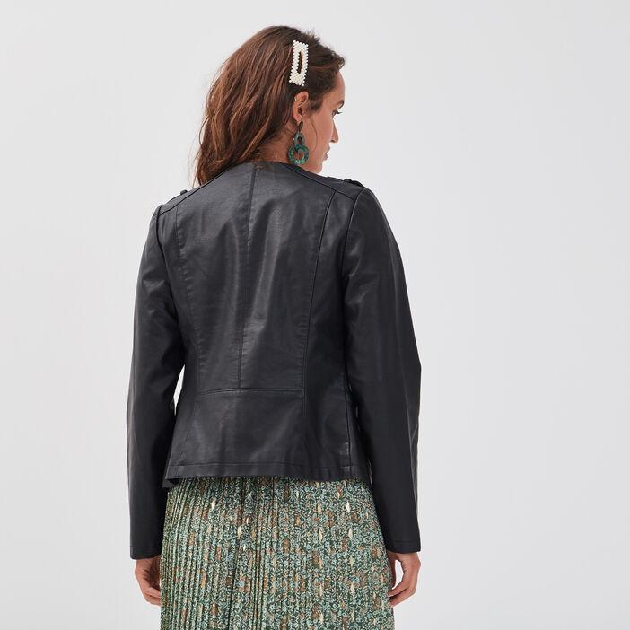 Veste ajustée et cintrée noir femme