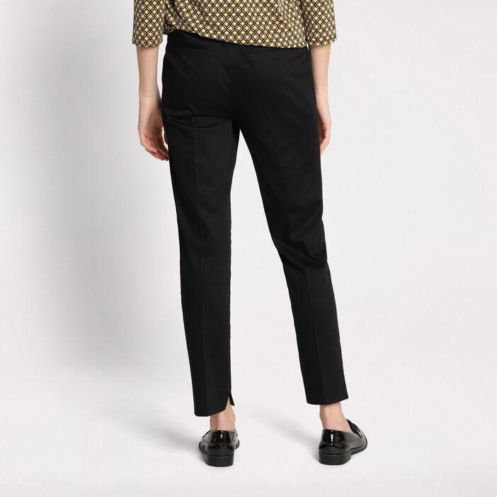 Pantalon 7/8ème à ceinture noir femme