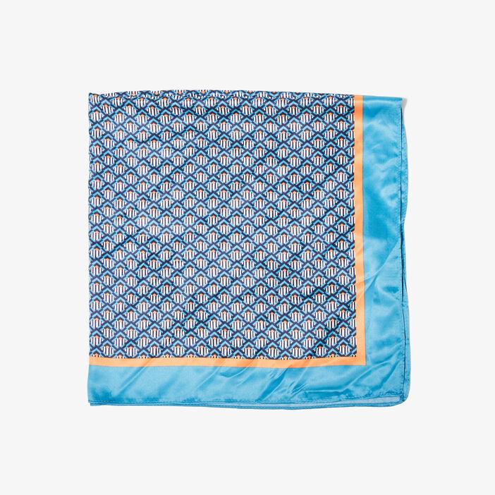 Foulard carré bleu femme