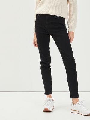 Jeans slim denim noir femme