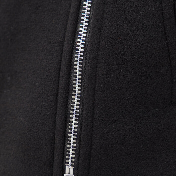 Manteau droit avec capuche noir femme