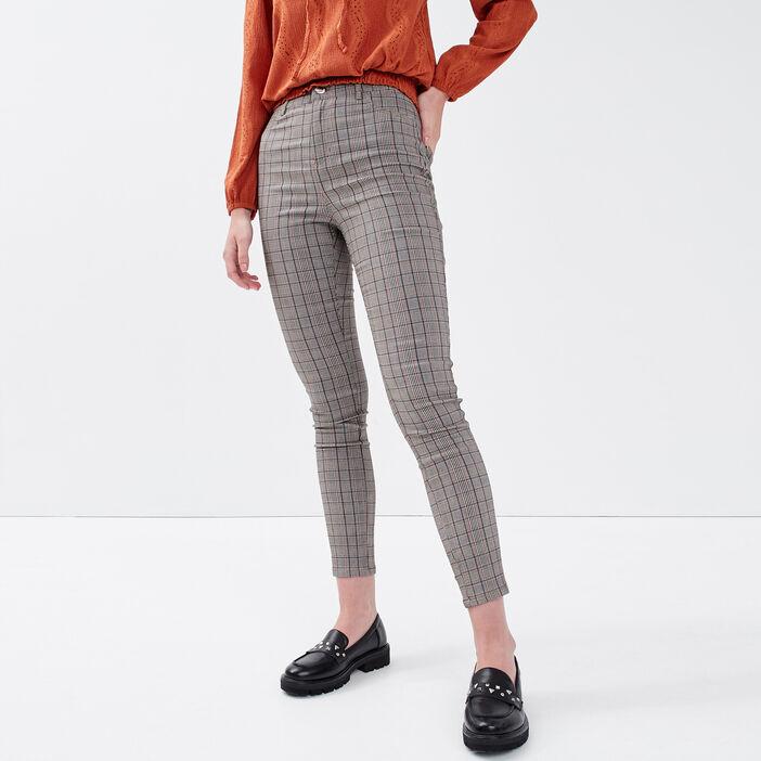 Pantalon skinny blanc femme
