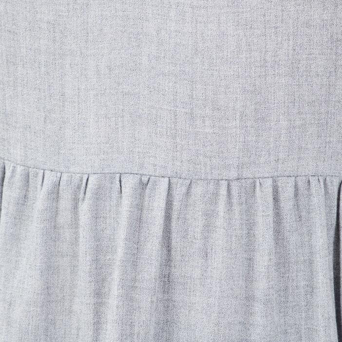 Blouse manches longues gris clair femme