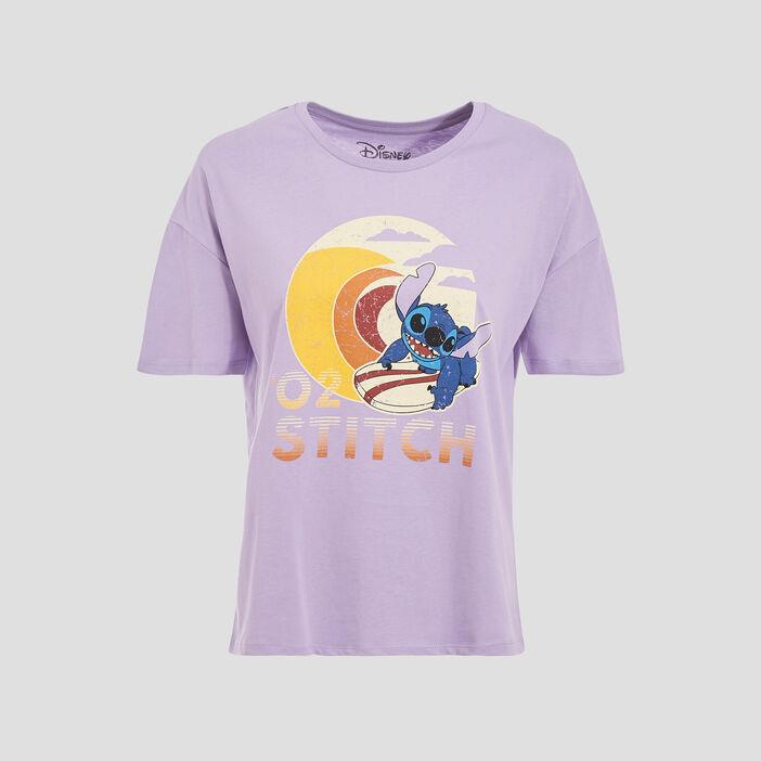 T-shirt Lilo et Stitch mauve femme