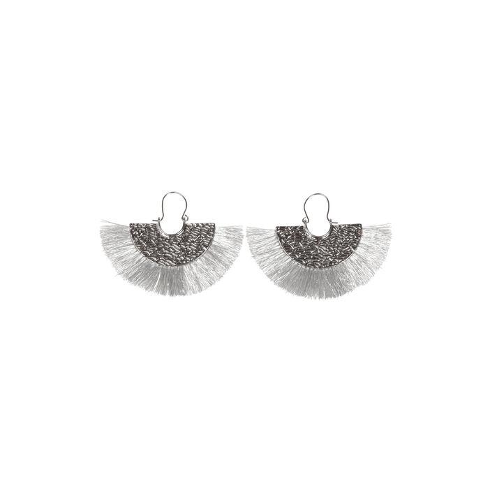 602982944 Boucles d'oreilles pompon forme éventail noir femme | Vib's
