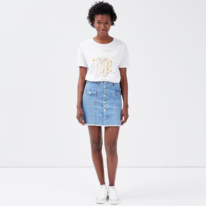T-shirt Harry Potter blanc femme