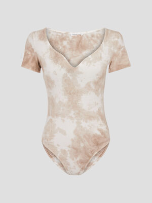 Body manches courtes sable femme