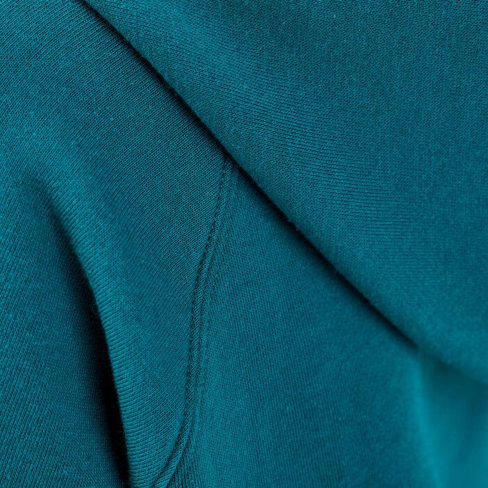 Sweat court avec capuche vert émeraude femme