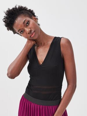 Body sans manches noir femme