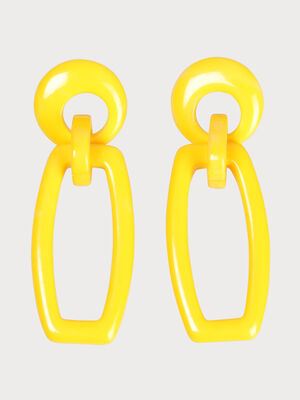 Boucles doreilles pendantes jaune fonce femme