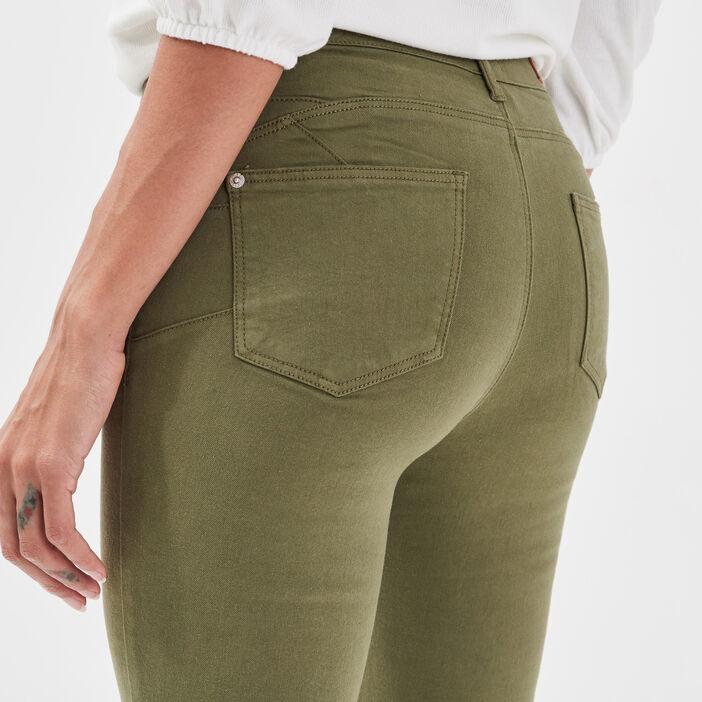 Jeans skinny push-up vert olive femme