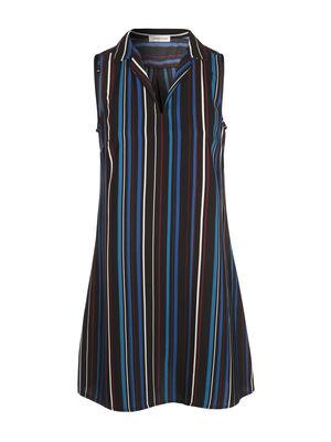 Robe longue trapeze noir femme