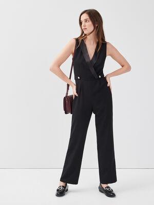 Combinaison pantalon noir femme