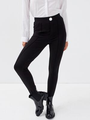 Leggings avec fuseau noir femme