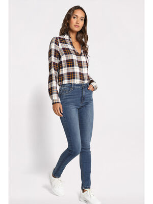Jeans skinny effet denim denim stone femme