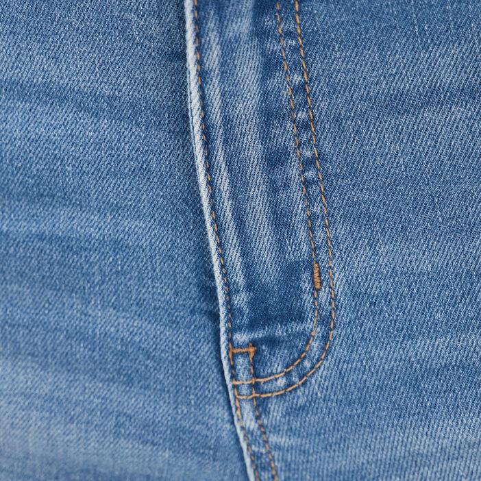 Short slim en jean denim double stone femme