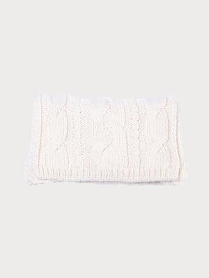 charpe tricotee a torsades ecru femme