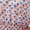 Robe evasee taille smockee orange corail femme