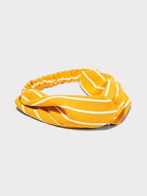 Bandeau effet noue jaune moutarde femme