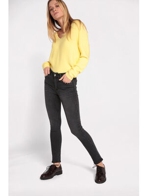 Jeans skinny clous metal denim noir femme