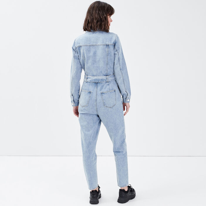 Combinaison pantalon en jean denim double stone femme