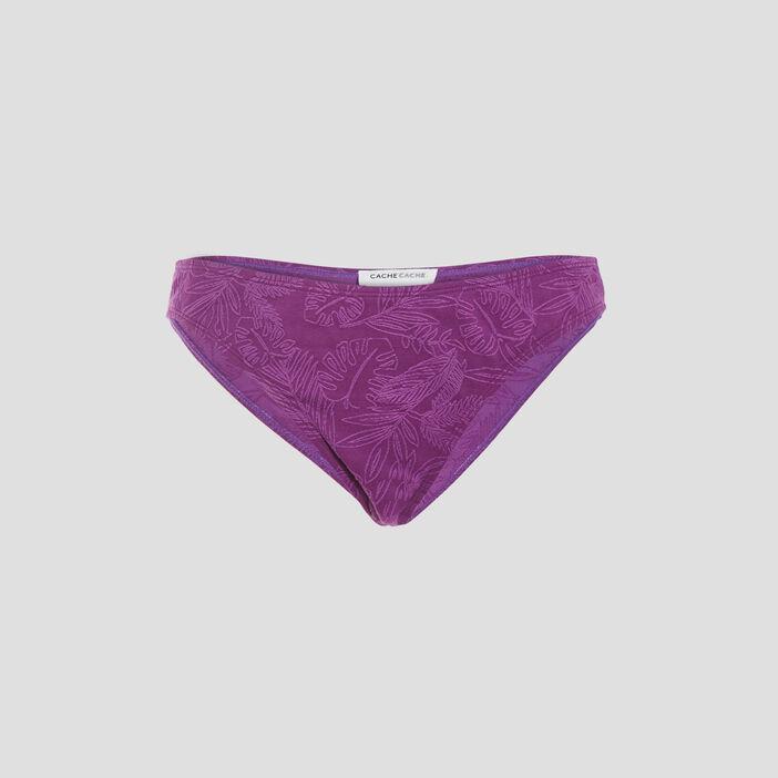 Bas de maillot de bain violet femme