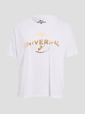 T shirt Universal ecru femme
