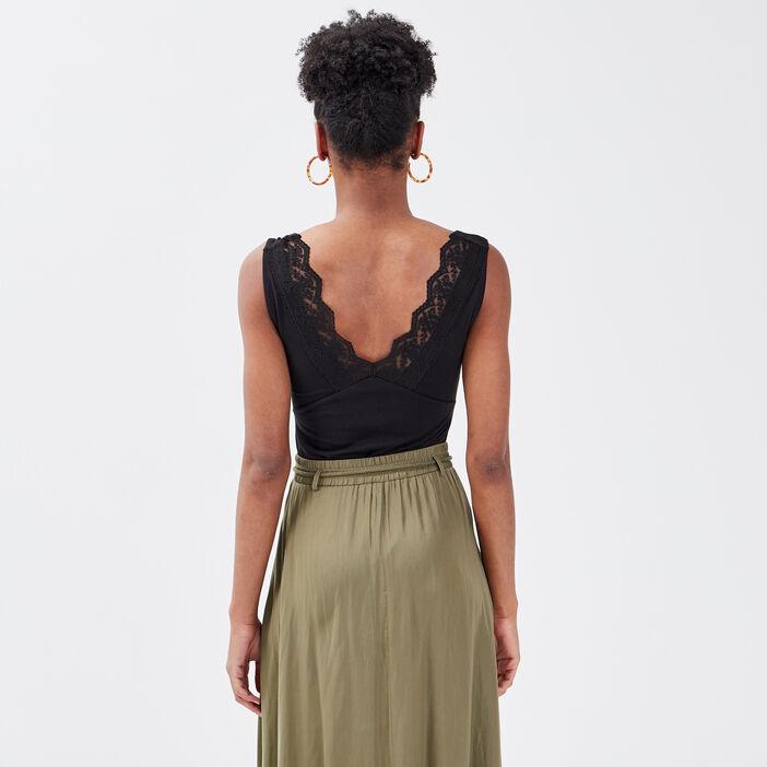 Body bretelles larges noir femme