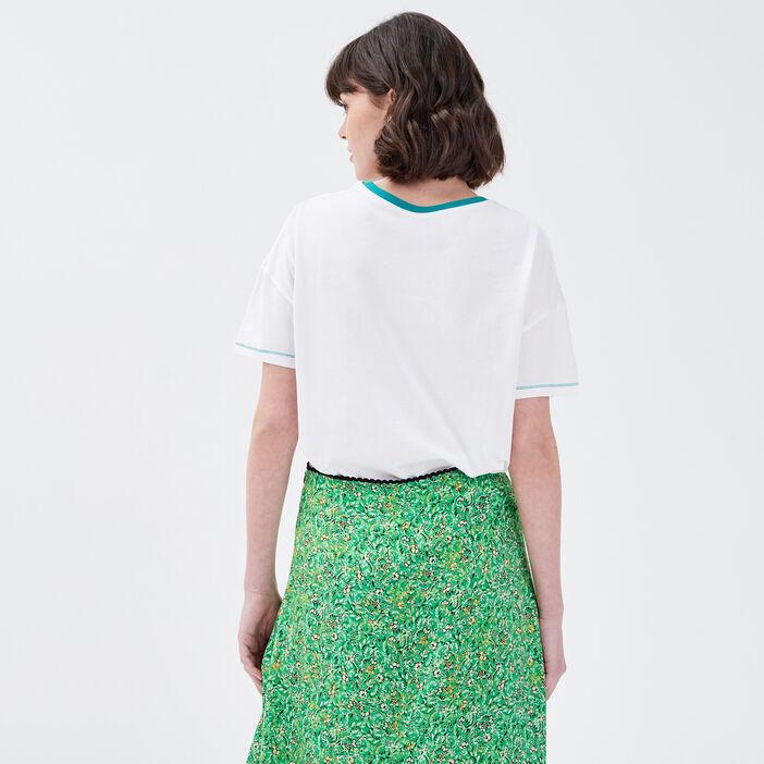 T-shirt manches courtes YALE blanc femme