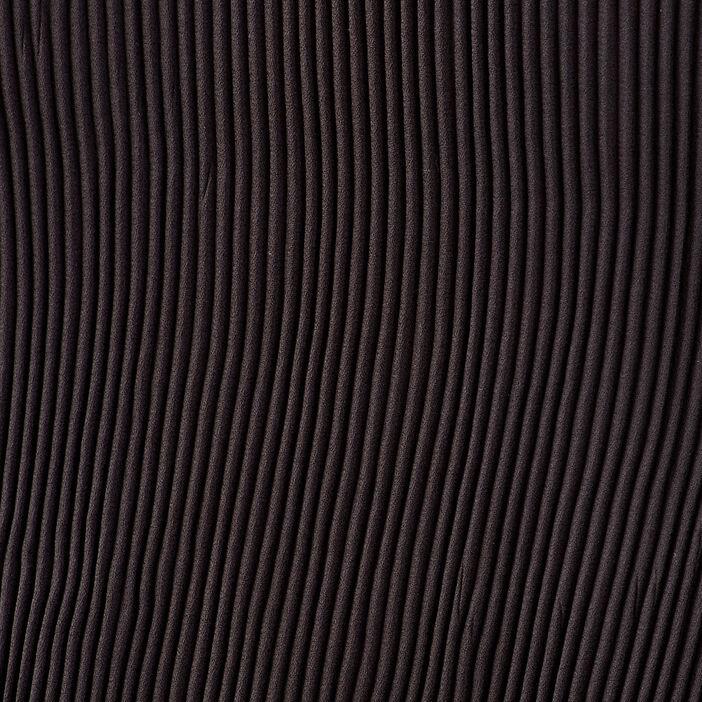 Combishort droite plissée noir femme