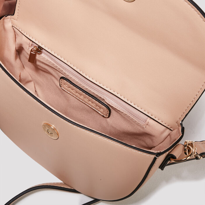 Sac besace avec pampille sable femme