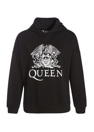 Sweat Queen capuche gris fonce femme