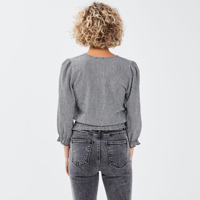 T-shirt manches 3/4 blanc femme