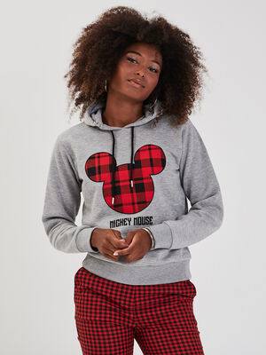 Sweat Mickey gris clair femme