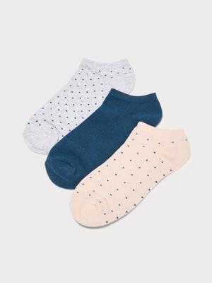 Lot 3 paires de chaussettes gris clair femme