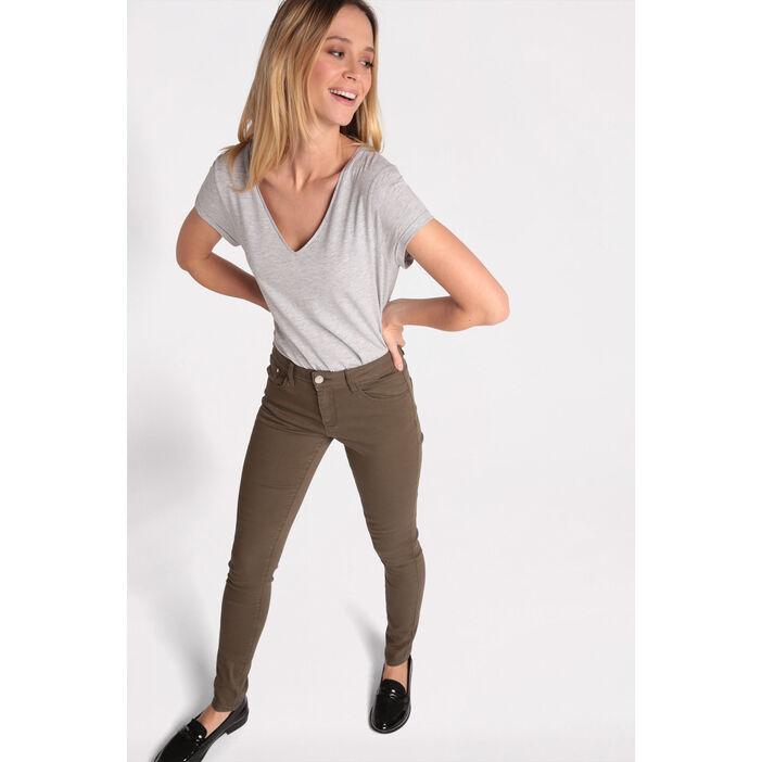 pantalon slim couleur vert kaki femme vib 39 s. Black Bedroom Furniture Sets. Home Design Ideas