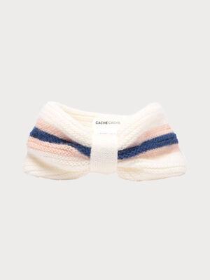 Bandeau tricote ecru femme