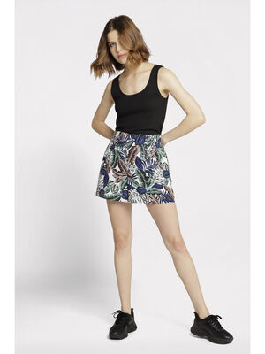 Short droit taille standard blanc femme