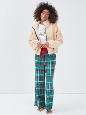Ensemble pyjama 3 pieces rouge femme